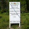 MDO Wood Sign on Posts
