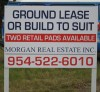 Wood For Lease Sign On Posts