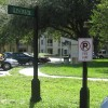 No Parking & Street Sign On Custom Posts with Base & Finials