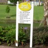 PVC Sign with Engraved Text and Routed Logo On Posts