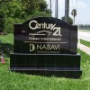 Black Tile Monument Sign with Gold Letters